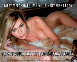 In Effort to Appeal to Mormons, Anti-Trump Super PAC Features Naked Wife Melania | Mediaite