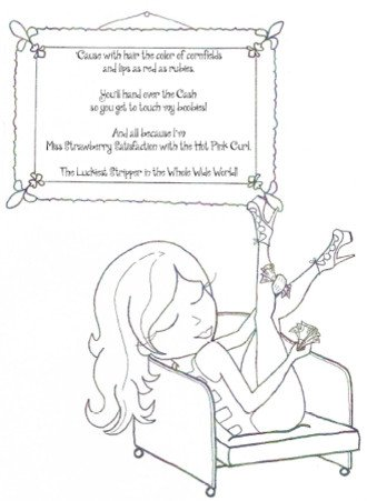 "The ""Happiest Stripper"" Coloring Book — FREE! – Best Las Vegas Strip Clubs – Topless Vegas Online"